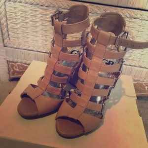 Used Gianni Bini strappy heels